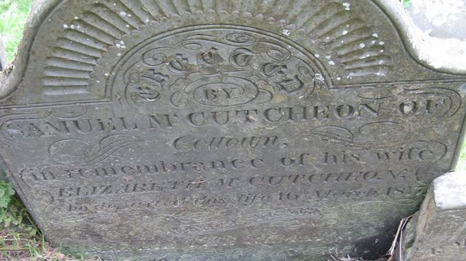 Samuel McCutcheon Headstone